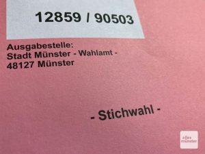 Die Stichwahl zum Amt des Oberbürgermeisters in Münster findet am Sonntag statt. (Foto: Thomas Hölscher)
