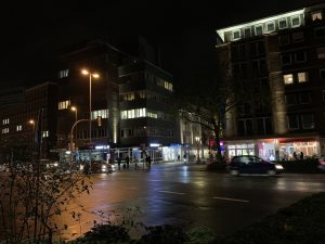Die Lichtgestaltung am Eingang zur Windthorststraße / Von-Vincke-Straße soll die Eingangssituation betonen.