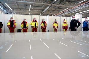 Zahlreiche Kräfte der Sicherheits- und Sanitätsdienste wurden am Freitag in der Halle Münsterland in ihr künftiges Betätigungsfeld eingewiesen