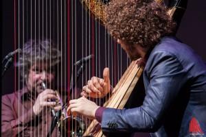 Remy van Kesteren an der Harfe und Eric Vloeimans an der Trompete - ein ungewöhnliches Duo. (Foto: sg)