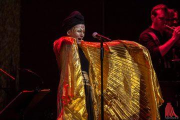 Gold war die letzte Klangfarbe beim 40jährigen Jubilum des Internationalen Jazzfestivals im Theater Münster. (Foto: Stephan Günther)