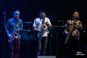 """Die drei Saxophonisten von """"Koma Saxo"""" gönnten sich und dem Publikum kaum eine Atempause. (Foto: Stephan Günther)"""