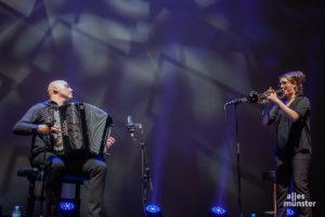 Beim Auftritt der Trompeterin Airelle Besson mit dem Akkordeonisten Lionel Suarez wurde es lyrisch und ein wenig verträumt. (Foto: Stephan Günther)
