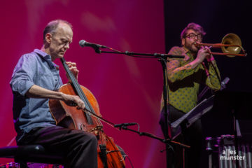 """Das Quintett """"Pipe Dream"""" beschloss den Abend mit vielen Klangfarben, für die nicht nur Hank Roberts am Cello und Filippo Vignato an der Posaune sorgten. (Foto: Stephan Günther)"""