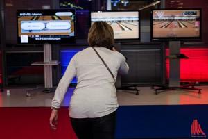 Gekegelt wurde bei der Kegelparty nur noch virtuell auf dem Monitor. (Foto: sg)