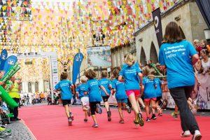 Die Kids beim Zieleinlauf im letzten Jahr. (Foto: Pressefoto)