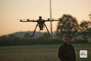 Der beeindruckende Hexacopter sorgt regelmäßig für Begeisterung bei den Zuschauern. (Foto: Michael Bührke)