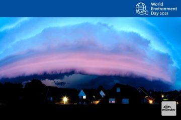 Ein Unwetter zieht auf, so wie hier über Hiltrup Pfingsten 2014. Ein Bild, das in Zukunft vermutlich immer häufiger zu sehen sein wird. (Foto: Michael Bührke)