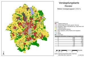 Die Versiegelungskarte von Münster. (Quelle: GDV)