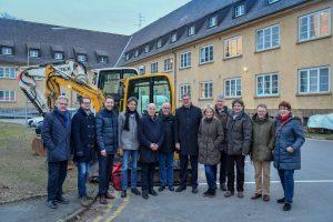Nach einem Rundgang über die Oxford-Kaserne trat der Aufsichtsrat zu seiner ersten Sitzung zusammen. (Foto: Presseamt Münster)