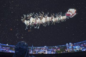 Im Planetarium können sich die Besucherinnen und Besucher mit weihnachtlichen Shows auf das Weihnachtsfest einstimmen. (Foto: LWL/Oblonczyk)
