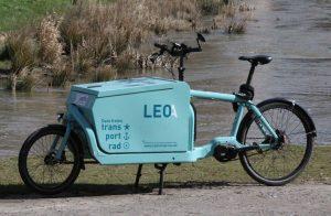 Lea*Leo, das neue Lastenrad der freien Lastenradinitiative kann kosten lost ausgeliehen werden. (Foto: Klaus Woestmann)