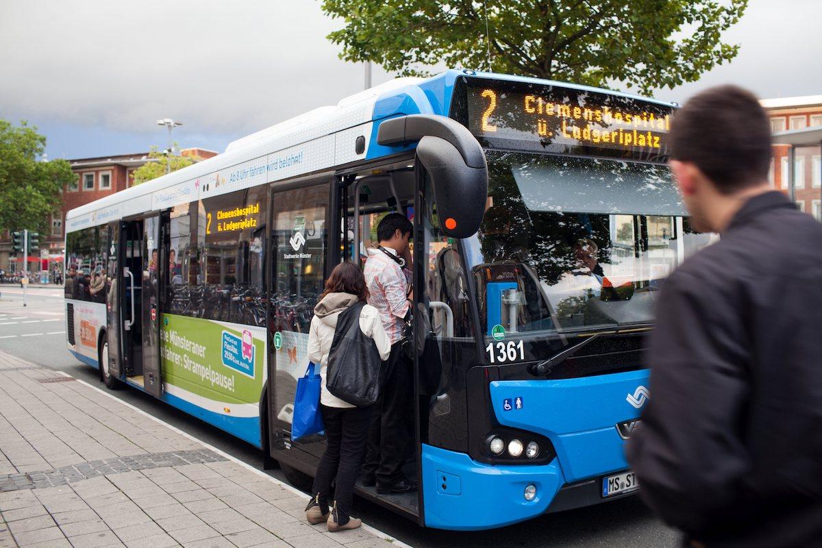 Am Samstag geht es kostenlos mit jedem Bus durch Münster. (Foto: Stadtwerke Münster / Leßmann)