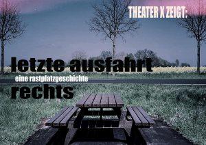 Theater X zeigt Anfang September in der Meerwiese Geschichten vom Halten, Ankommen, Einsteigen und Weiterfahren: Ein tragikomischer Theaterabend voller Rastplatzgeschichten. (Bild: Theater X)