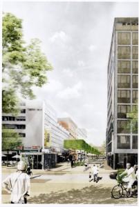 Auf dem Teilstück zwischen Bahnhof und Von-Vinke-Straße soll mittig ein Grünstreifen entstehen. (Grafik: Büro Lohaus & Carl)