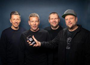 Michi Beck, Marcus Trojan, Patrick Hennig und Smudo stellten die Luca-App am 1. März in Berlin vor. (Foto: Jens Oellermann)