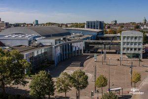 In der Halle Münsterland entsteht das Impfzentrum Münster. (Archivbild: Stephan Günther)