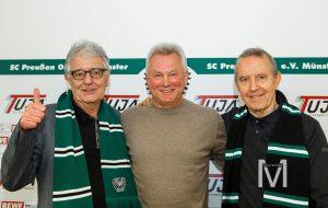 SCP Präsident Christoph Strässer, Trainer Benno Möhlmann und Präsidiumsmitglied Walther Seinsch. (Foto: MünsterView.de/ Heiner Witte)