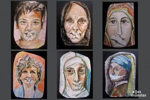 """""""Bis zum 11. Mai, dem Beginn der Aktion Maria 2.0, werde ich jeden Tag ein Frauenbild malen. Ich widme es allen, die zum Schweigen gebracht wurden und werden"""", erklärt Lisa Kötter. (Foto: Michael Bührke)"""