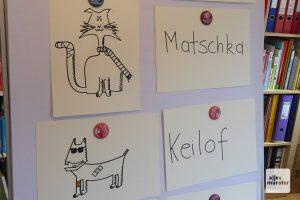 Witziger Masematte-Unterricht für Kinder vor den Lesungen der Autorin in unterschiedlichen Büchereien. (Foto: Marion Lohoff-Börger)