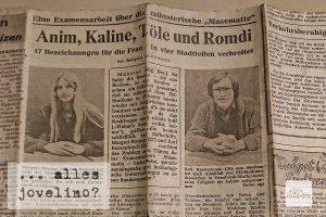 Zeitungsbericht über die Examensarbeit von Margret Topp (damals Strunge) und Karl Kassenbrock (Quelle: privat)