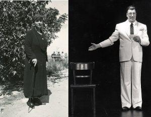 """Links: Frieda Gräfin Merveldt wurde 1933 als """"Luftschutzwart"""" für Häuser im Kreuzviertel verpflichtet. Rechts: Schauspieler Busso Mehring (Foto: Stadt Münster / Sammlung Stadtarchiv)"""