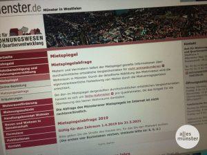 Für Münster gibt es einen neuen Mietspiegel, der auch über die Homepage der Stadt abrufbar ist. (Foto: Thomas Hölscher)