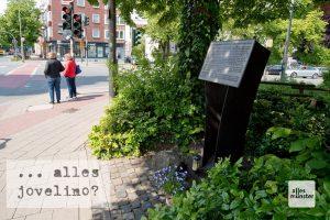 Die Gedenkstätte für die jüdischen Opfer des Holocaust in Münster liegt etwas versteckt an der Ecke Warendorfer Straße / Kaiser-Wilhelm-Ring (Foto: Michael Bührke)