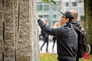 Besucher aus aller Welt waren während der Skulptur Projekte zu Gast in Münster. (Foto: Michael Bührke)