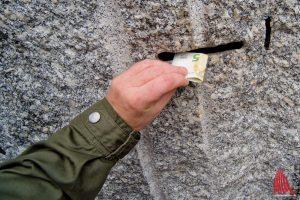 Täglich wurden im Schnitt 270 Euro in diesen Schlitz gesteckt. (Foto: Michael Bührke)