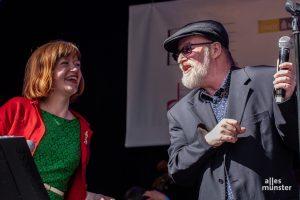 Kristina Labs und Michael Jahnig erfreuten das Publikum mit Standards - und mit einem Münster-Lied. (Foto: Stephan Günther)