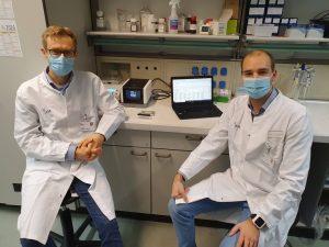 Priv.-Doz. Dr-Gerd Meyer zu Hörste (l.) und Dr. Michael Heming aus der münsterschen Uniklinik für Neurologie waren maßgeblich an der neuen Studie (Foto: David Schafflick)