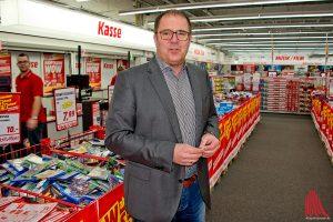 Andreas Nienhaus ist Geschäftsführer des Media Markts in Münster. (Foto: mb)