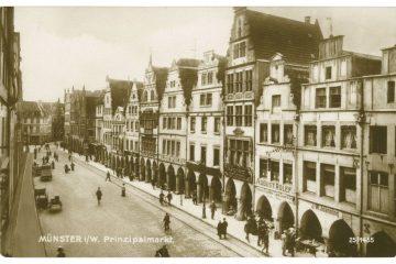 Münster auf alten Postkarten: Prinzipalmarkt 1910. (Foto: Stadt Münster – Sammlung Stadtmuseum)