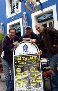 (v.l.:) Bernd Redeker (Gorilla Bar) Peter Goettker (Blaues Haus)  Reiner Schlag( Gorilla Bar). (Foto: Promo)