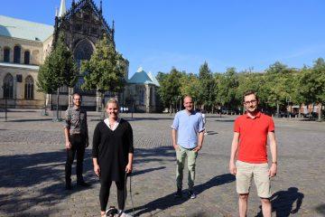 Florian Rösler (Landwirtschaftskammer NRW), Annika Ahlers (Anni's Bauernbox), Hendirk Homann (Münsterländer Hofkiste) und Damian Winter (Koordinationsteam Ernährungsrat Münster i.G.) (Foto: Privat)