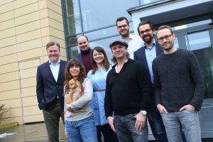 Das Projektteam für 'Landwirtschaft rockt' zusammen mit Henning Wehland (Mitte). (Foto: Landwirtschaftsverlag)