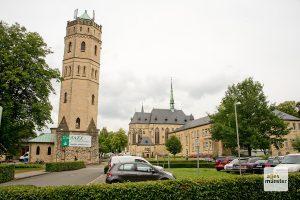 "Stift Tilbeck mit dem ""Café am Turm"". (Foto: Michael Bührke)"