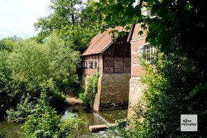 Die alte Wassermühle bei Haus Langen ist überaus malerisch (Foto: Michael Bührke)