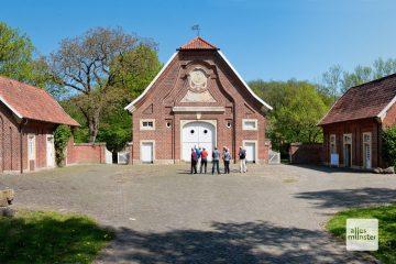 """Haus Rüschhaus, das erste Highlight dieser Radtour. Hier hat Annette von Droste-Hülshoff zum Beispiel die """"Judenbuche"""" geschrieben. (Foto: Michael Bührke)"""