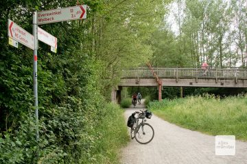 Der Radweg entlang der Werse ist sehr beliebt (Foto: Michael Bührke)