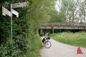 Der Werse-Radweg ist sehr beliebt. (Foto: Michael Bührke)