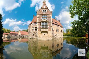Burg Vischering, die vielleicht eindrucksvollste Wasserburg des Münsterlandes. (Foto: Michael Bührke)