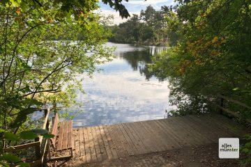 Der Hiltruper See ist zu jeder Jahreszeit beliebt (Foto: Michael Bührke)