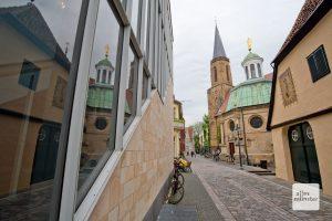 """Der """"Telgter Dreiklang"""" aus Religio, Gnadenkapelle und Clemenskirche. (Foto: Michael Bührke)"""