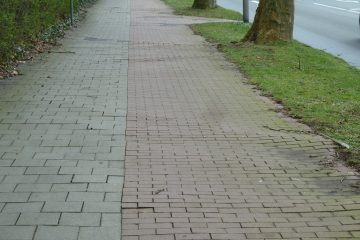 """Starke """"Wurzelschäden"""" machen eine Erneuerung der Geh- und Radwege an der Wolbecker Straße zwischen Mondstraße und Laerer Landweg nötig. (Foto: Stadt Münster)"""