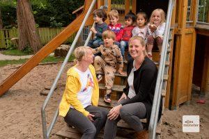 Kinder, Eltern und ErzieherInnen freuen sich auf die neue Kita-Heimat am Hoppengarten (Archivbild: Bührke)