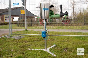 dieses geheimnisvolle Gerät steht seit einiger Zeit am Merkureck in Hiltrup (Foto: Michael Bührke)