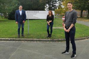 Prof. Ursula Rescher mit ihren Forscherkollegen Prof. Stephan Ludwig (li.) und Dr. Sebastian Schloer (Foto: privat)