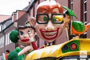 Endlich Grund zum Lachen für die Karnevalisten in Münster: Der Rosenmontagszug kann stattfinden. (Archivbild: Stephan Günther)